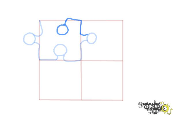 How to Draw Puzzle Pieces - Step 6