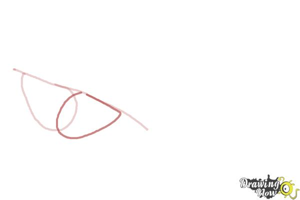 How to Draw Puckered Lips - Step 2