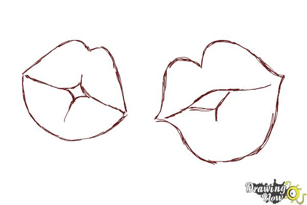 How to Draw Puckered Lips - Step 8