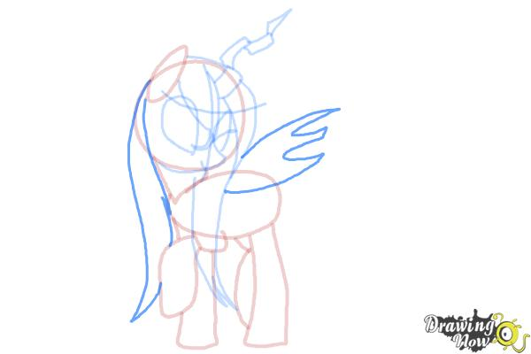 How to Draw Queen Chrysalis from My Little Pony Friendship Is Magic - Step 11
