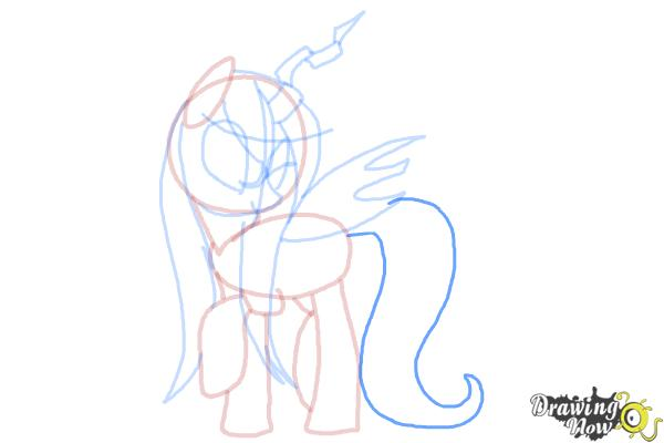 How to Draw Queen Chrysalis from My Little Pony Friendship Is Magic - Step 12