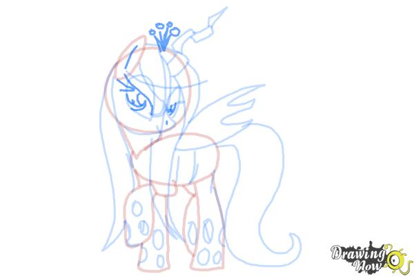 How to Draw Queen Chrysalis from My Little Pony Friendship Is Magic - Step 15