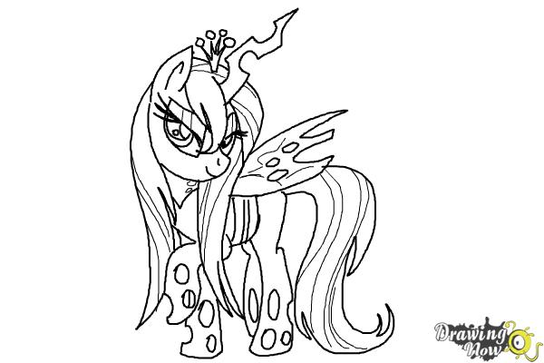 How to Draw Queen Chrysalis from My Little Pony Friendship Is Magic - Step 16