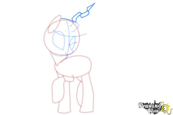 How to Draw Queen Chrysalis from My Little Pony Friendship Is Magic - Step 9