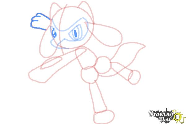 How to Draw Riolu - Step 10