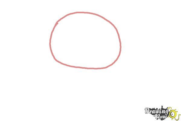How to Draw Rilakkuma - Step 1