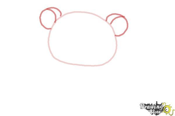 How to Draw Rilakkuma - Step 2