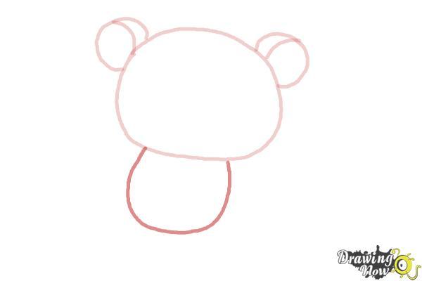 How to Draw Rilakkuma - Step 3