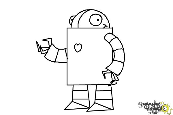 How To Draw A Robot For Kids - DrawingNow