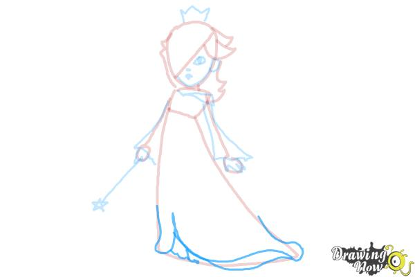 How to Draw Rosalina - Step 12