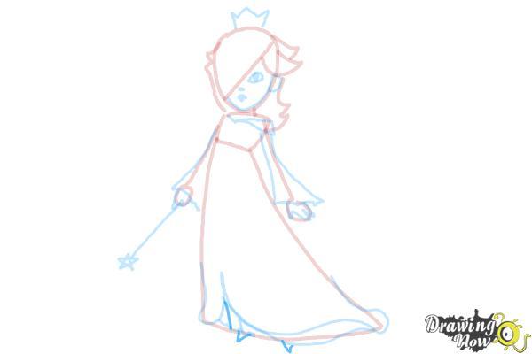 How to Draw Rosalina - Step 13