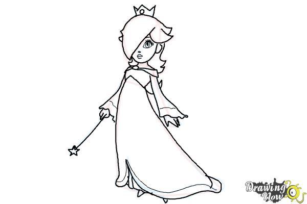 How to Draw Rosalina - Step 14