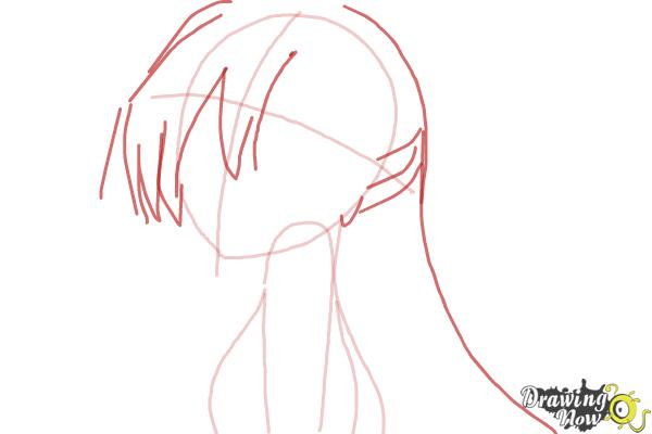 How to Draw Japanese Anime - Step 3