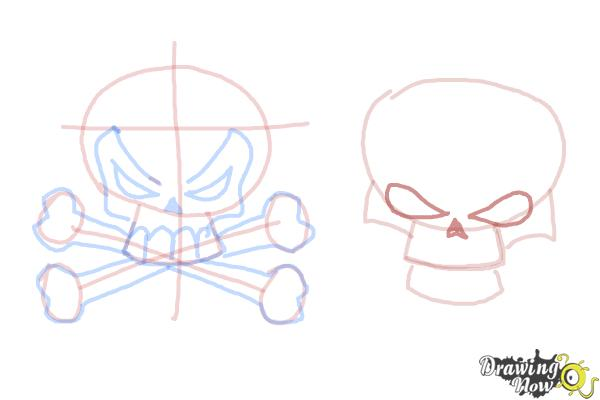 How to Draw Skulls - Step 11