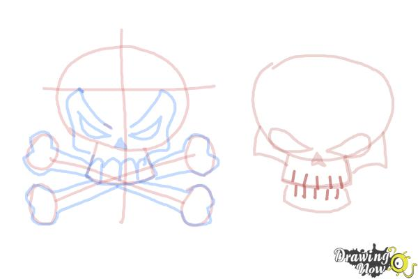 How to Draw Skulls - Step 12