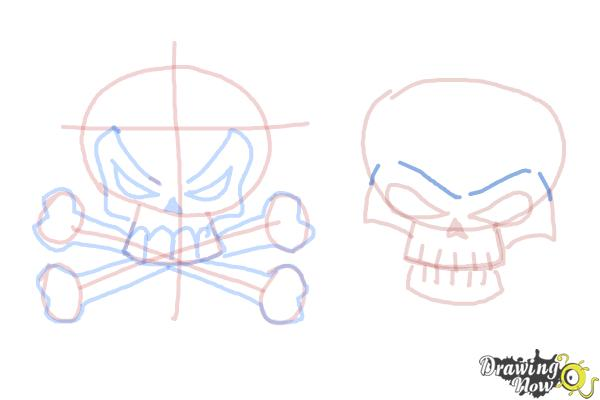 How to Draw Skulls - Step 13