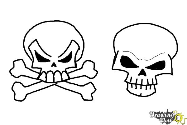 How to Draw Skulls - Step 14