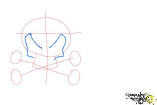 How to Draw Skulls - Step 4