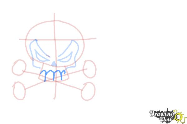 How to Draw Skulls - Step 6