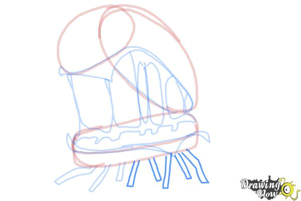 How to Draw Cheespider from Cloudy With a Chance Of Meatballs 2 - Step 10
