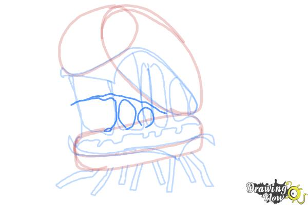 How to Draw Cheespider from Cloudy With a Chance Of Meatballs 2 - Step 11