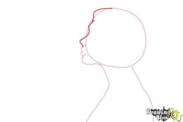 How to Draw a Silhouette - Step 4