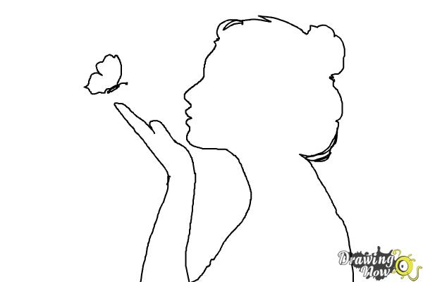 How to Draw a Silhouette - Step 8