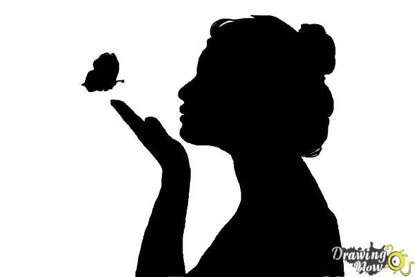 How to Draw a Silhouette - Step 9