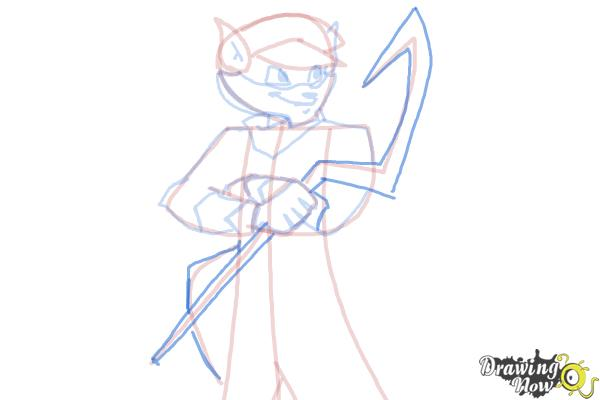 How to Draw Sly Cooper - Step 13