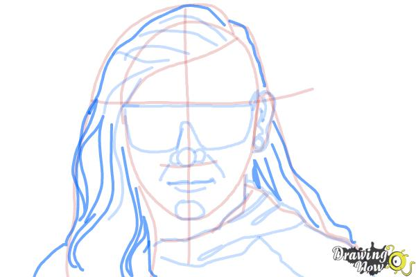 How to Draw Skrillex - Step 11