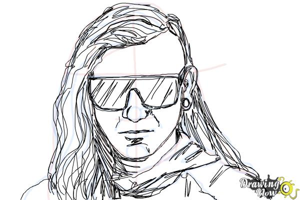 How to Draw Skrillex - Step 12