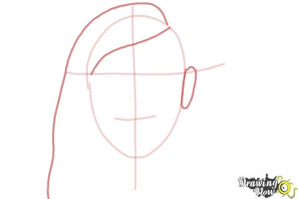 How to Draw Skrillex - Step 3