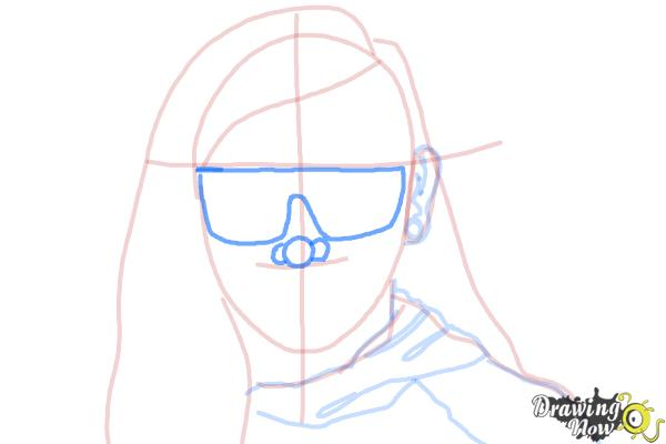 How to Draw Skrillex - Step 8