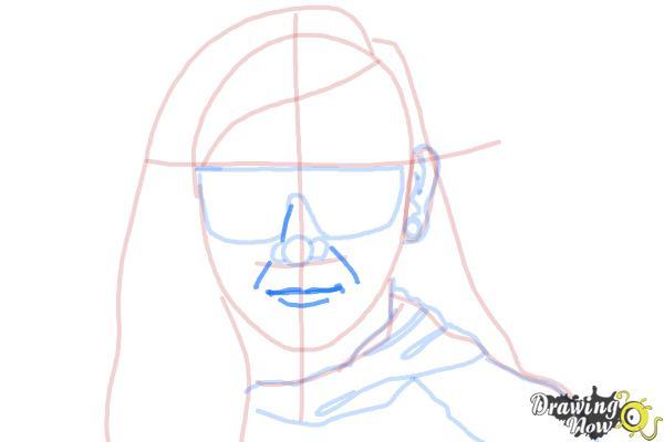 How to Draw Skrillex - Step 9