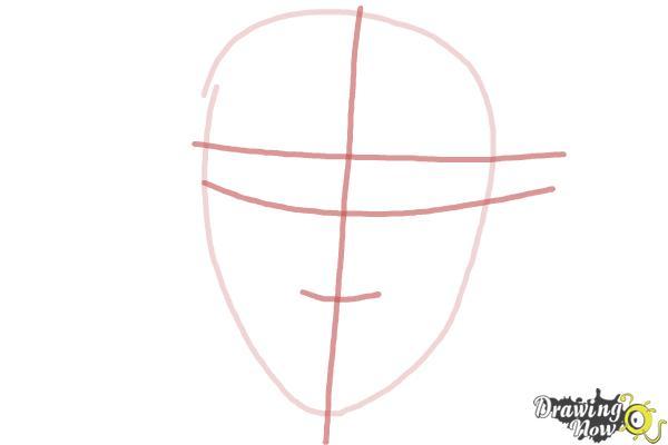 How to Draw Scarlett Johansson - Step 2
