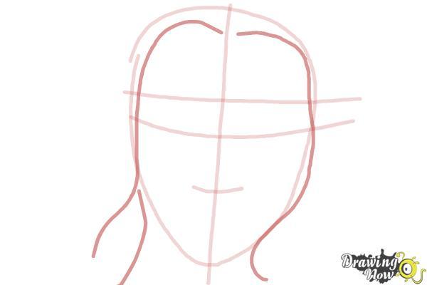 How to Draw Scarlett Johansson - Step 3