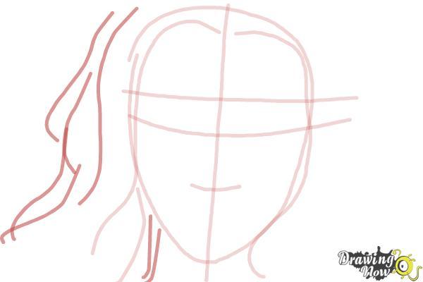 How to Draw Scarlett Johansson - Step 4