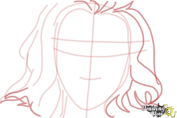 How to Draw Scarlett Johansson - Step 5