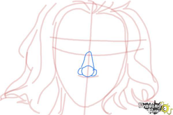 How to Draw Scarlett Johansson - Step 6