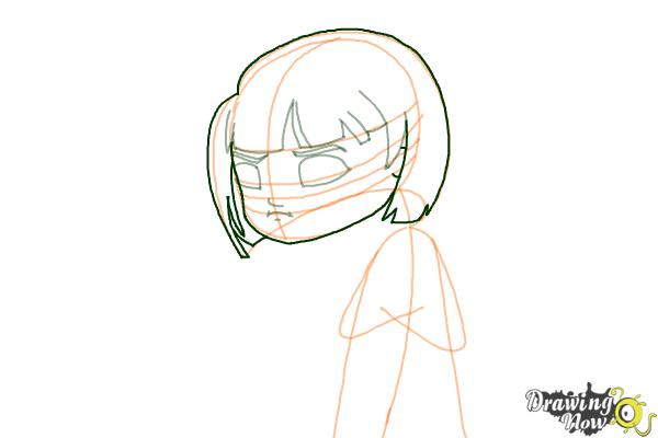 How to Draw a Sad Girl - Step 7