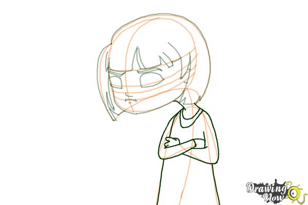 How to Draw a Sad Girl - Step 8