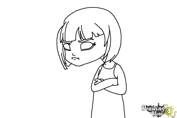 How To Draw A Sad Girl DrawingNow