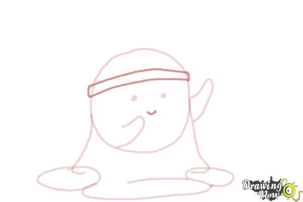 How to Draw Slime Princess from Adventure Time - Step 7