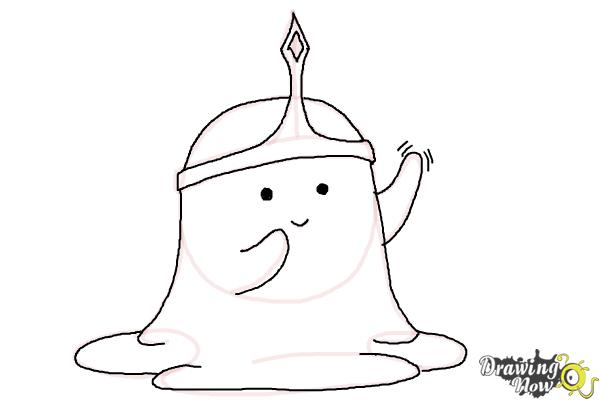 How to Draw Slime Princess from Adventure Time - Step 9
