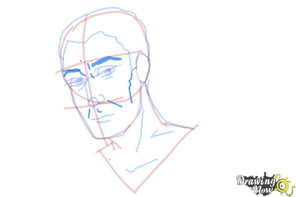 How to Draw Slicked Back Hair - Step 10
