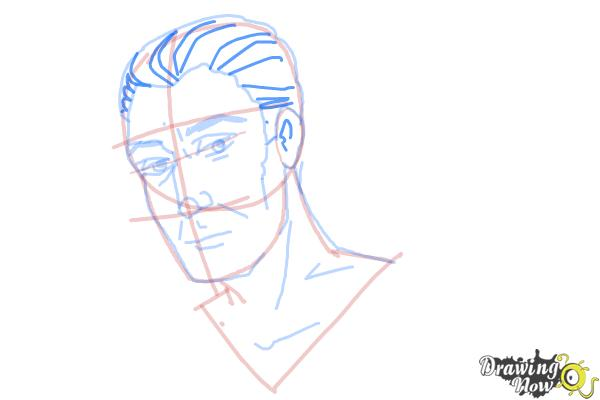 How to Draw Slicked Back Hair - Step 11