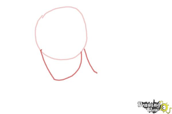How to Draw Slicked Back Hair - Step 2