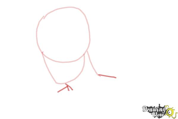 How to Draw Slicked Back Hair - Step 3