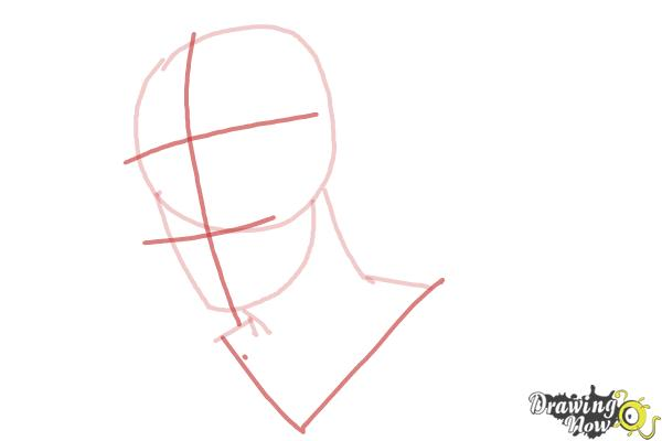 How to Draw Slicked Back Hair - Step 4
