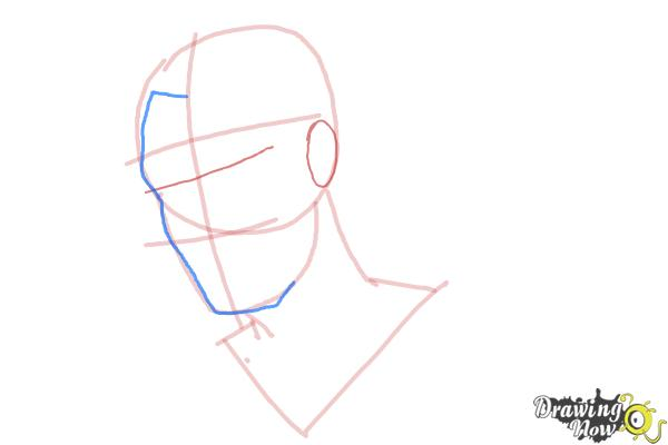 How to Draw Slicked Back Hair - Step 5